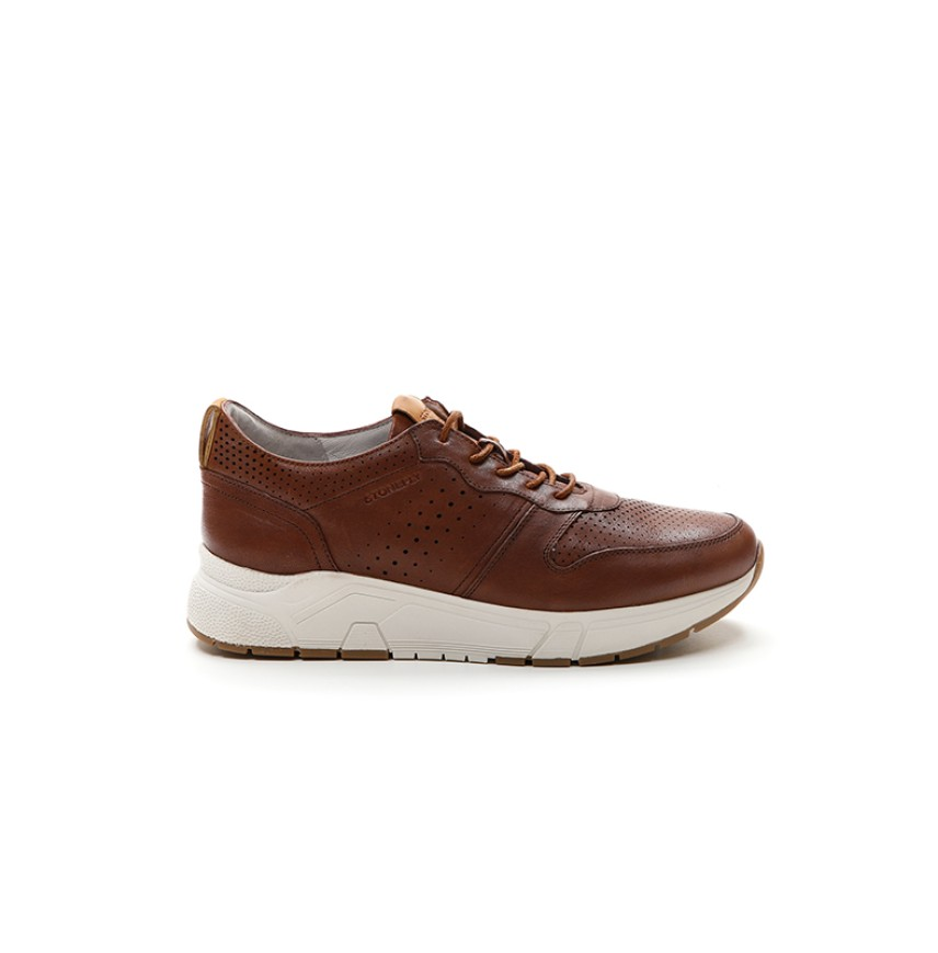 CASUAL SHOES MAN LEATHER STONE