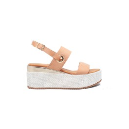 WOMEN LEATHER WEDGE SIDER COL.